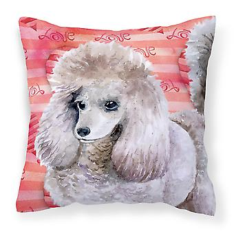 Carolines Treasures  BB9752PW1414 Poodle Love Fabric Decorative Pillow