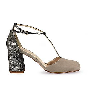 Franco Colli ladies FC1050 beige / grey leather pumps