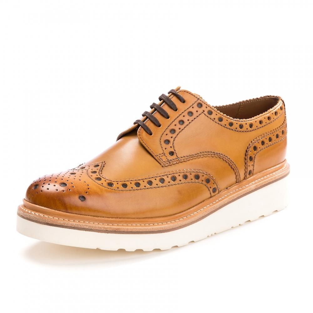 Grenson Grenson Ar e Brogue caoutchouc semelle Tan Mens chaussures