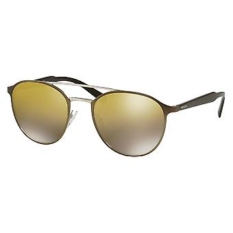 Prada SPR62T Brown matte/silver mirrored Brown gradient gold