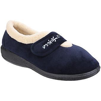 Fleet & Foster Womens/Ladies Capa Full Shoe Memory Foam Warm Slippers