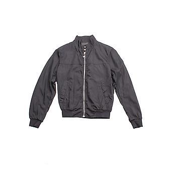 Prada Men's Nylon Zip Up Bomber Jacket Navy Blue