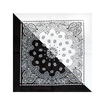Tofarvet sort og hvid Bandana