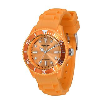 Candy time by Madison N.Y.. watch mini L4167-22 pastel-Orange