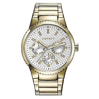 ESPRIT дамы часы наручные часы Бекки из нержавеющей стали золото ES108642002