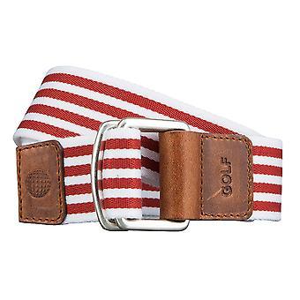 GOLF-Belts Gürtel Herrengürtel Textilgürtel mit Doppelring Gemustert Rot 3491