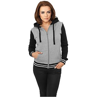 Urban classics ladies Zip Hoodie 2 tone College