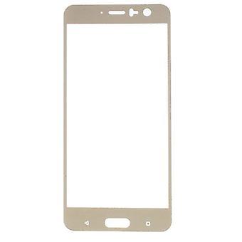 Prémio 0,3 mm dobrados H9 temperado vidro folha de ouro para HTC U11 novo