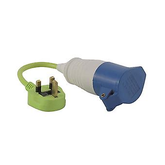 Outwell Conversion Lead Plug UK Green Plug
