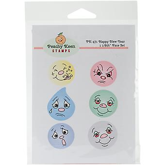 Peachy Keen Stamps Clear Face Assortment 6/Pkg-Happy New Year