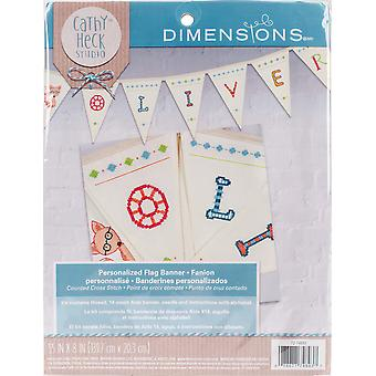 Cathy Heck Flag Bunting Counted Cross Stitch Kit-55
