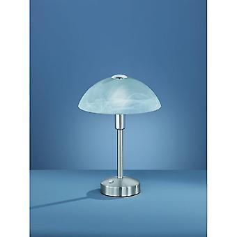 Trio Lighting Donna Modern Nickel Matt Metal Table Lamp