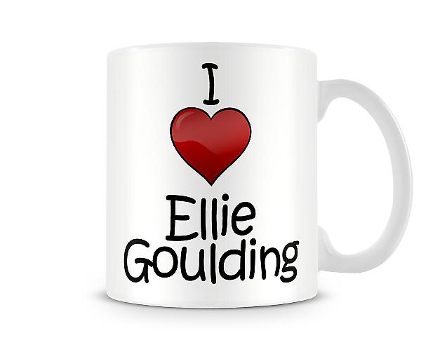 Ich liebe Ellie Goulding bedruckte Becher