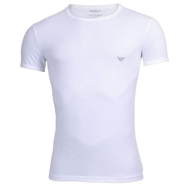 Emporio Armani Eagle friidrett Crew hals t-skjorte, hvit, X store
