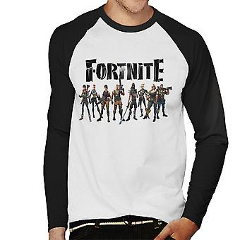Caratteri Fortnite Full Baseball Graphic-Uomo manica lunga t-shirt