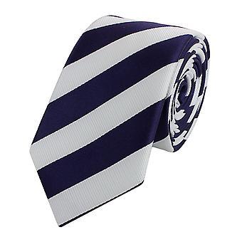 Binde binde binde slips bred 6cm blå/hvid gestreiftt Fabio Farini