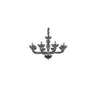 Ideal Lux Casanova 8 Bulb Pendant Light Fume
