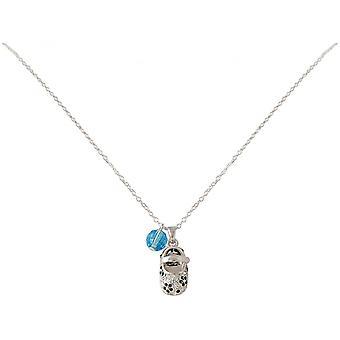 Women - child - necklace - pendant - 925 Silver - shoe - blue - 45 cm