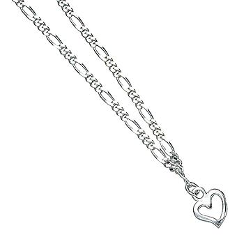 Foot chain with pendant heart LOS ANGELES 925 Silver