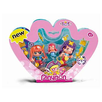 Pinypon Pirate And Little Mermaids Pack 3 Figures