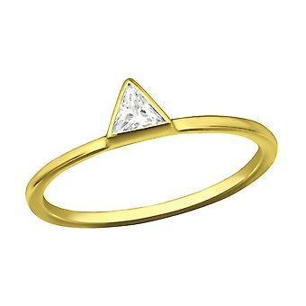 Triangle - 925 Sterling Silver Jewelled Rings - W37982x