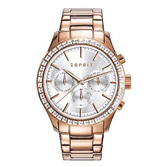 Esprit reloj calle piedra oro rosa tono