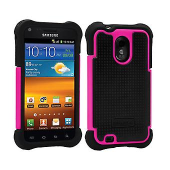 Ballistic Shell Gel Case for Samsung Epic Touch 4G - Black Silicone/Black TPU/Pi