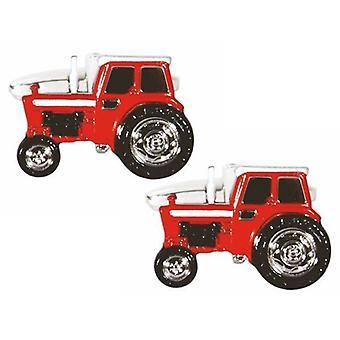 Zennor Tractor Cufflinks - Red