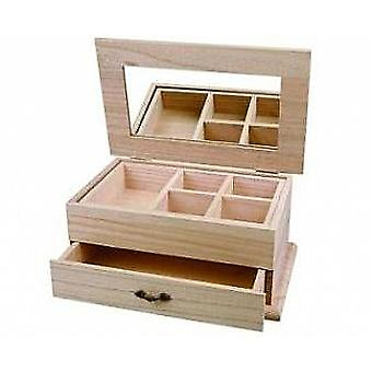 Wooden Jewellery Box - Great Quality | Wooden Shapes for Crafts