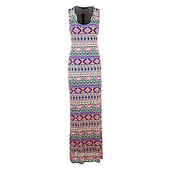 New Ladies Leopard Funky Fruit Print Multi Colour Maxi Bodycon Women's Dress