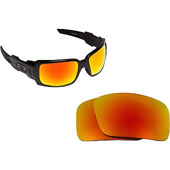 Oil Drum Replacement Lenses Polarized Red Mirror by SEEK fits OAKLEY Sunglasses