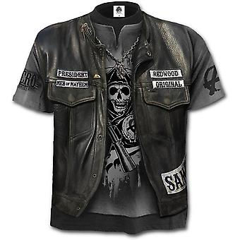 Spiral - JAX WRAP - Allover Licensed SOA T-Shirt Black