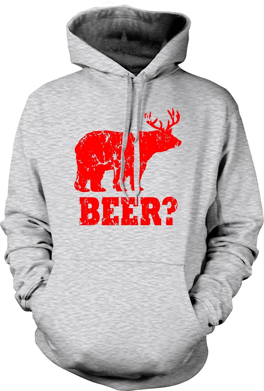 Mens hettegenser - øl - Funny