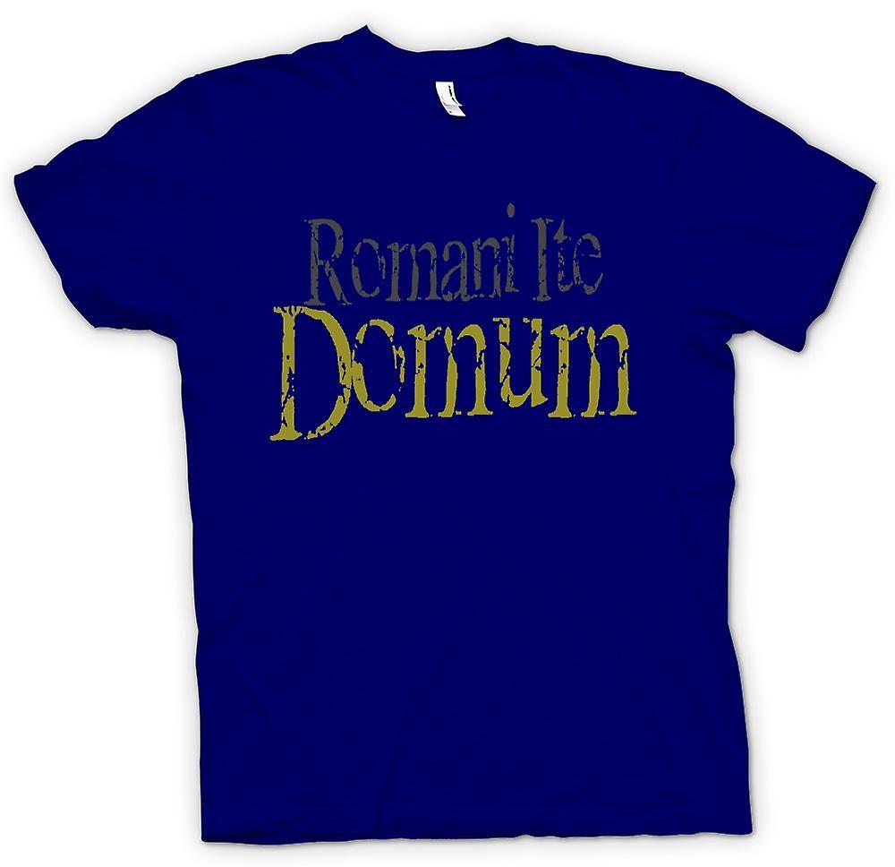 Mens t-skjorte - Romani Ite Domum - Funny