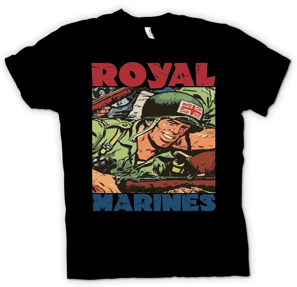 Kinder T-shirt - Royal Marines Cartoon - Union Jack Jackson