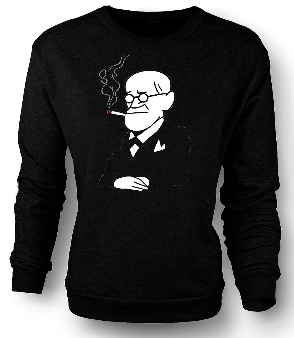 Mens Sweatshirt Sigmund Freud - Psychology - Cartoon