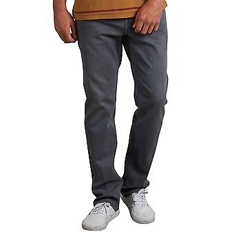 Volcom Grey Vintage Solver Modern Straight Fit Jeans