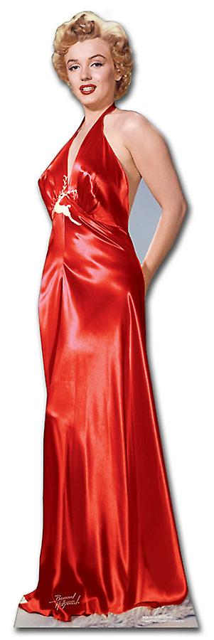 Marilyn Monroe wearing Red Gown / Dress - Lifesize Cardboard Cutout / Standee