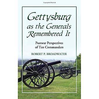 Gettysburg jako generałów pamiętał: powojennych perspektywy dziesięciu dowódców