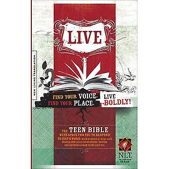 Live Bible-NLT [With Stickers and Poster]