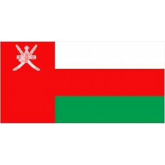 Oman Flag 5ft x 3ft With Eyelets For Hanging
