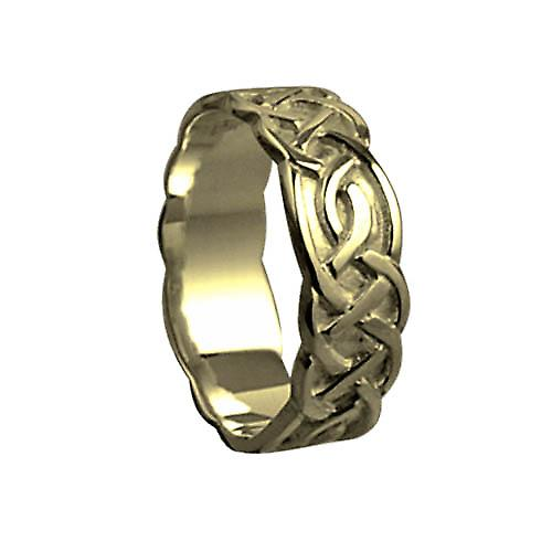 18ct Gold 6mm Celtic Wedding Ring Size P