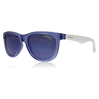 Carrera Junior Carrerino 20 Age 2-5 Years WWKXT White Blue Carrerino 20 Square Sunglasses Lens Category 3 Lens Mirrored Size 46mm