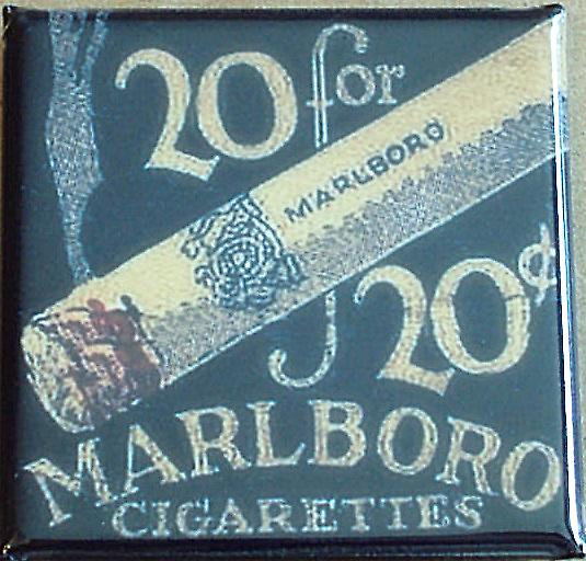 Marlboro Cigarettes steel mini fridge magnet   (gf)