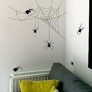 Spider & Cobwebs Wall Sticker