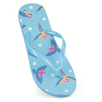 Sandrocks Womens/Ladies Parrot Flip Flops