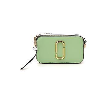 Marc Jacobs Snapshot Green Leather Shoulder Bag