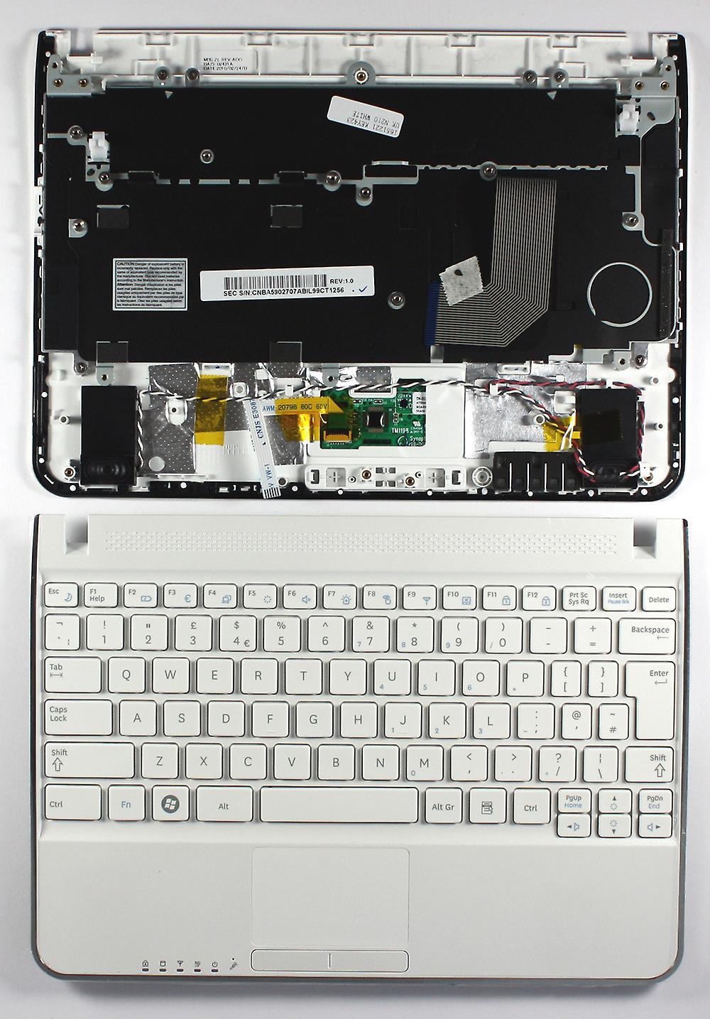 Samsung NP-N210 avec palmier blanc Royaume-Uni Layout remplaceHommest clavier d'ordinateur portable