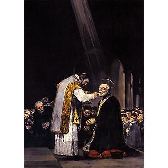 Siste fellesskap av St. Josef av Calasanz, Francisco Goya, 60x43cm