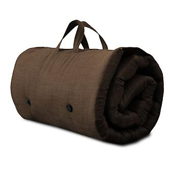 Roll Up Futon Mattress with Carry Handle - Chocolate
